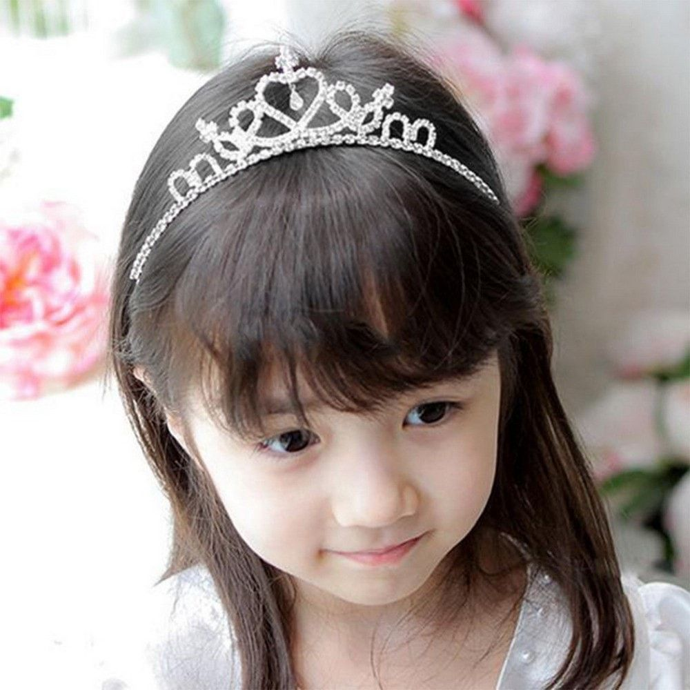 Girls crystal wedding crown tiara products pinterest products