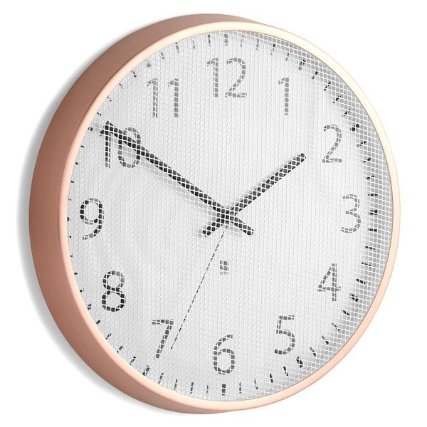 Umbra Perftime Wall Clock Copper Dimensions Diameter 31 8cm X Depth 3 8