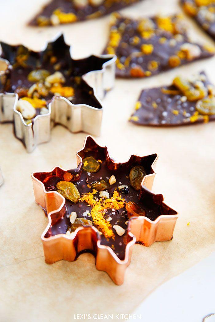 Sea Salt and Chocolate Orange Bark - Lexi's Clean Kitchen
