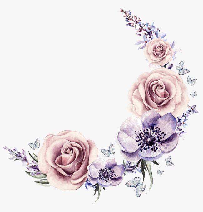 تصميم مواليد ثيمات خلفيات Cute Picsart تصاميم امي ابي Baby ادوات قلب اطفال ملصق افتار هي Wreath Watercolor Cartoon Flowers Hand Painted Flowers