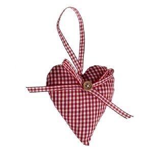 Scandinavian christmas hearts | Scandinavian Style Christmas Padded Heart Decoration