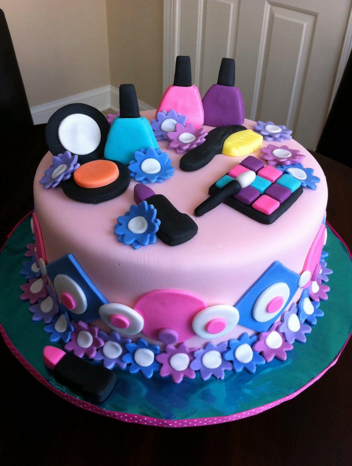 Spa Party Ideas For Girls Birthday Girls Spa Birthday Cake