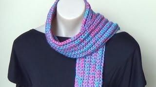 Ribbed Scarf Crochet Tutorial - Easy from @bobwilson123 clare