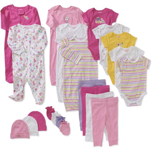 Garanimals Newborn Girls' 21 Piece Layet | Outfit styles, Walmart ...