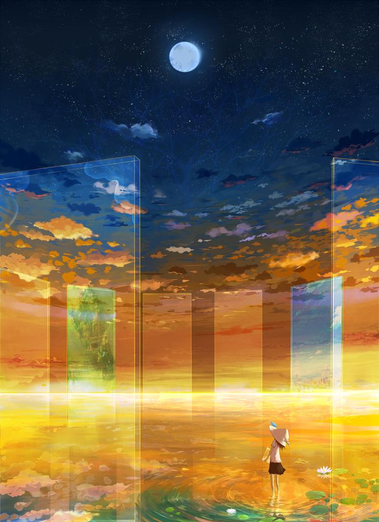 壁紙2次元の幻想的な風景夜景の画像part2 禿同ニュース速報