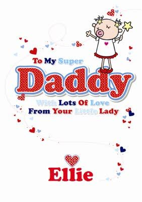 To A Super Daddy Lots Of Love On Father S Day From Your Little