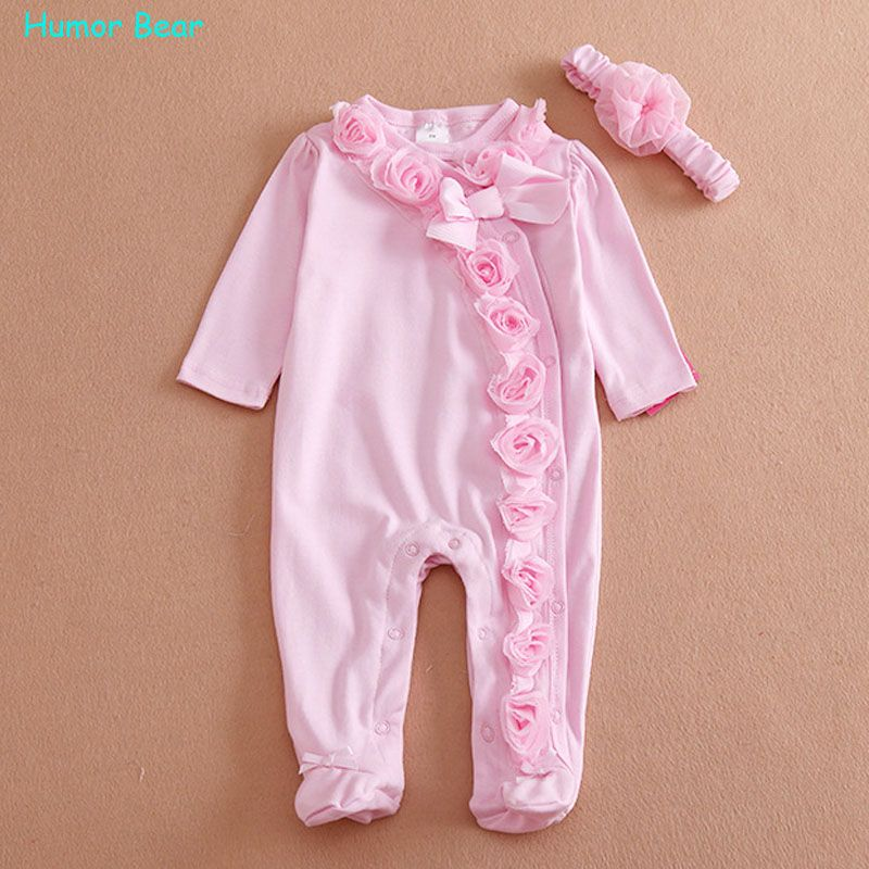 a6430f7d7613 Nice Humor Bear NEW Newborn Baby Girl Clothes Bow Flowers Romper Clothing  Set Jumpsuit  amp