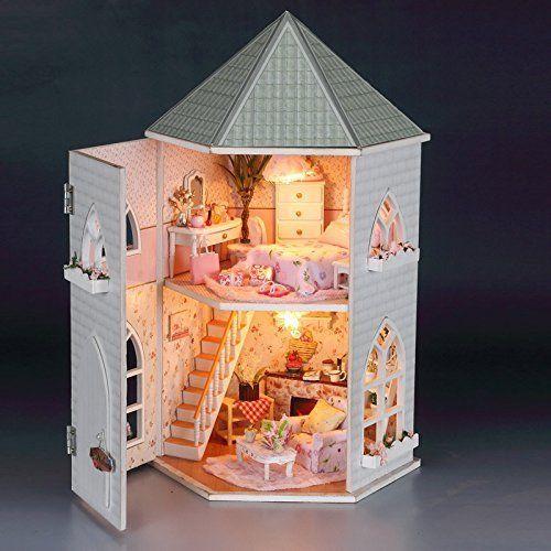 Miniature 1:24 DIY Dollhouse Furniture 3D Wooden Sweet Juice Store Model
