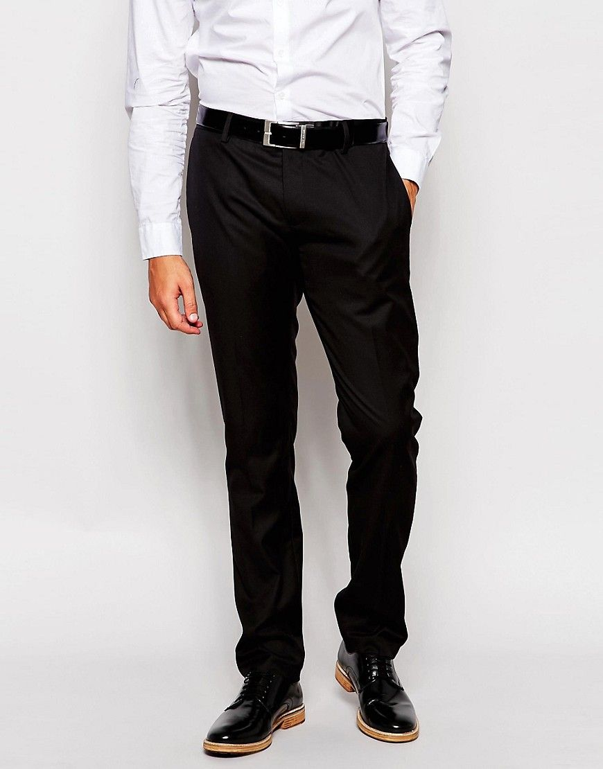 Mega seje Antony Morato Tuxedo Suit Trousers in Slim Fit - Black ...