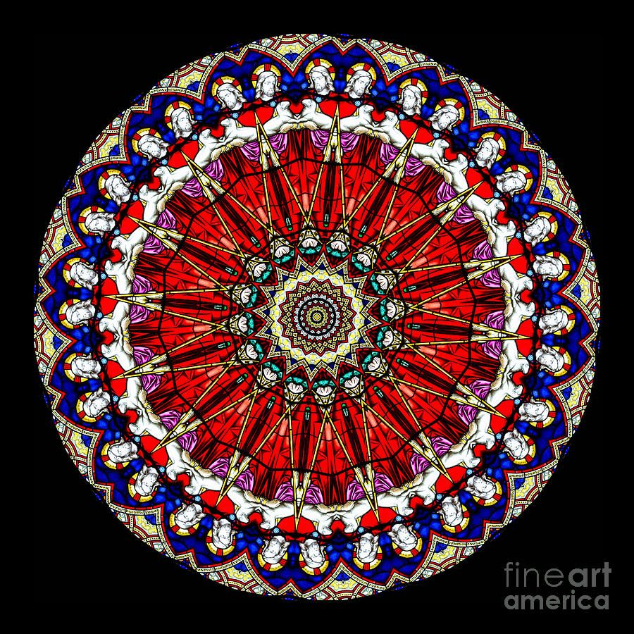 Color art kaleidoscope - Stained Glass Window Art Kaleidoscope Stained Glass Window Series Photograph