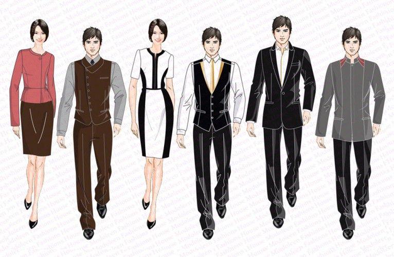 Hotel uniform country club concierge uniform design for Spa uniform singapore