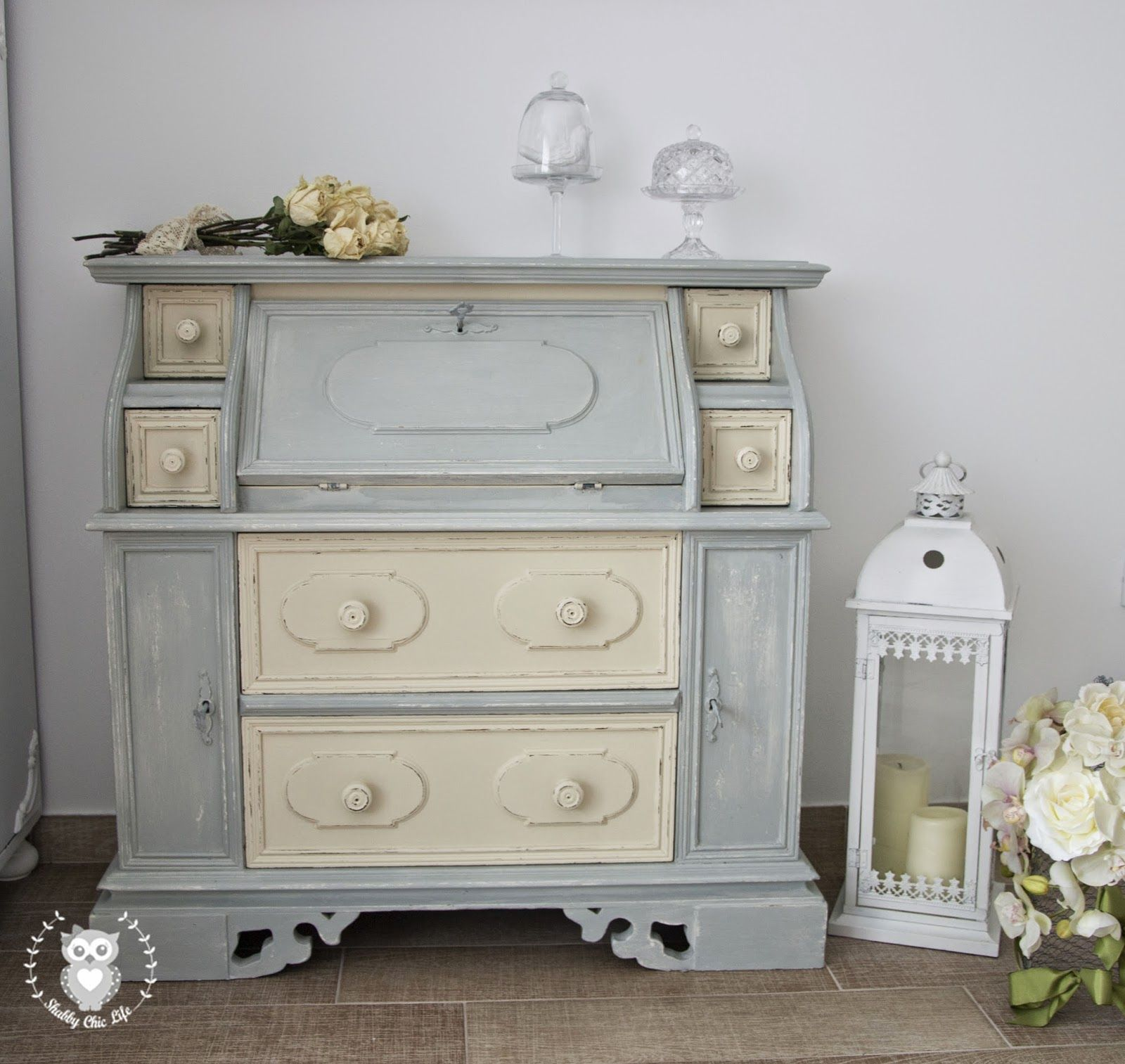 come trasformare i mobili con la tecnica shabby chic e la chalk ... - Arredamento Country Chic Online