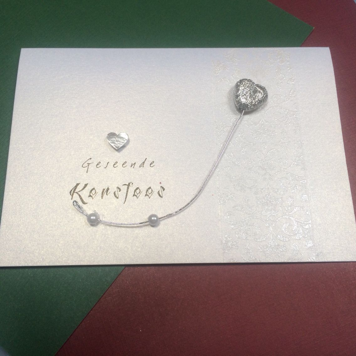 Christmas card, personalised sentiment, embossing, handmade