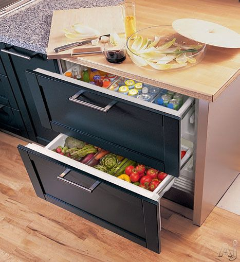Sub Zero Idrx  Integrated Double Drawer Refrigerator With   Cu Ft