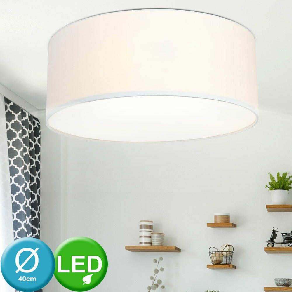 LED 30 W Decken Leuchte Glas Wohn Ess Zimmer Beleuchtung rund Küchen Büro Lampe