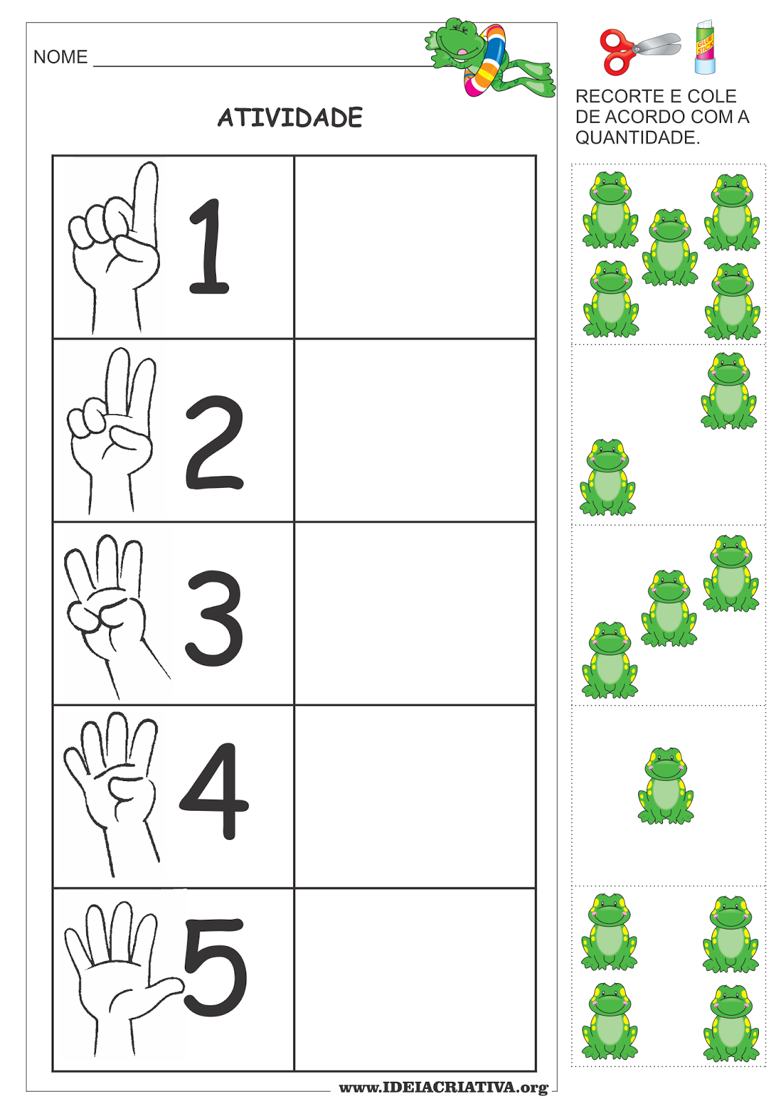 Atividade Numero E Quantidade Com Recorte E Colagem Primavera