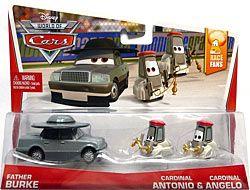 World of Cars 2014 - #02/09 - Father Bruke, #03/09 - Cardinal Antonio & #04/09 - Cardinal Angelo - Movie Moments - Race Fans