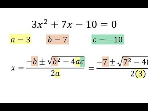 Ecuaciones de segundo grado por formula general - YouTube