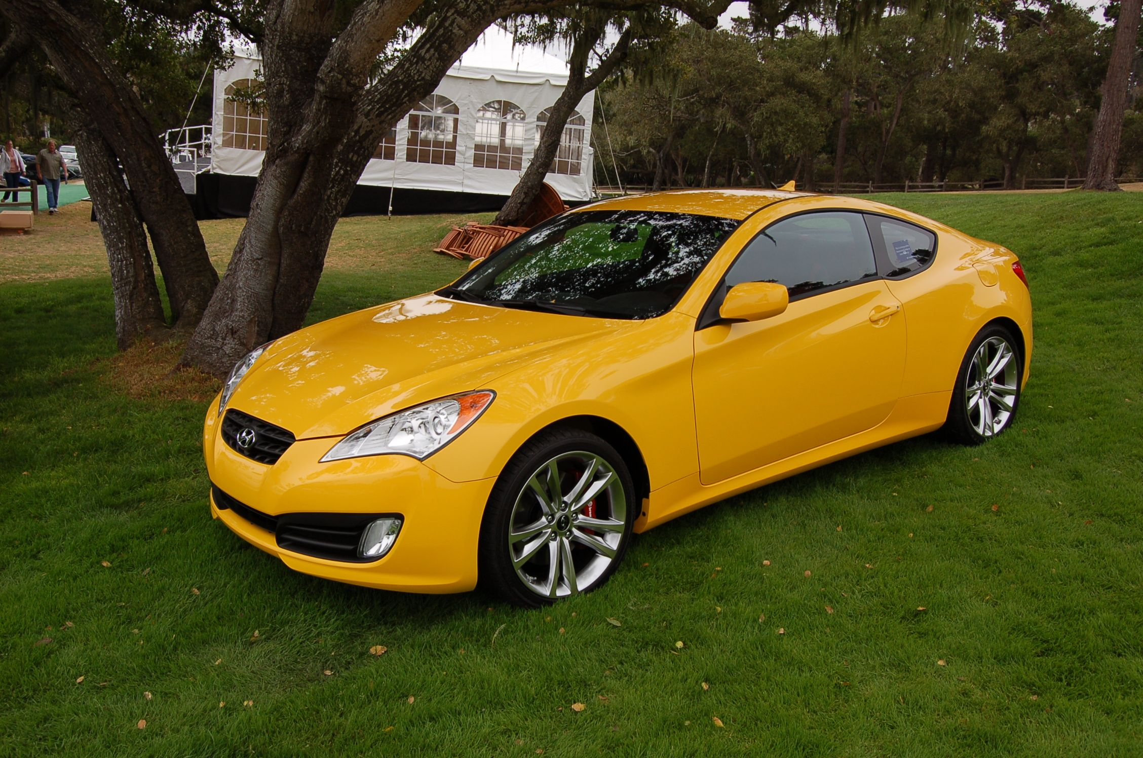 Yellow hyundai genesis coupe 333 hp