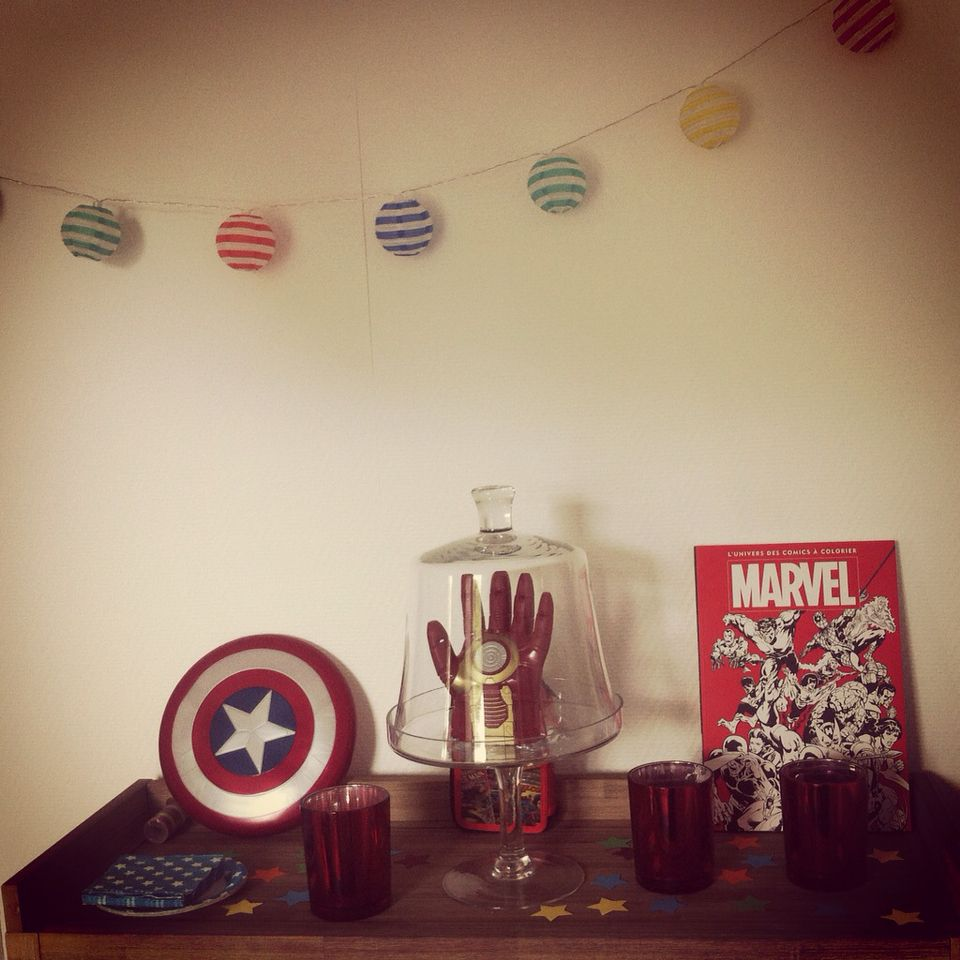 Avengers birthday chic Home sweet brocante birthday decoration ideas ...
