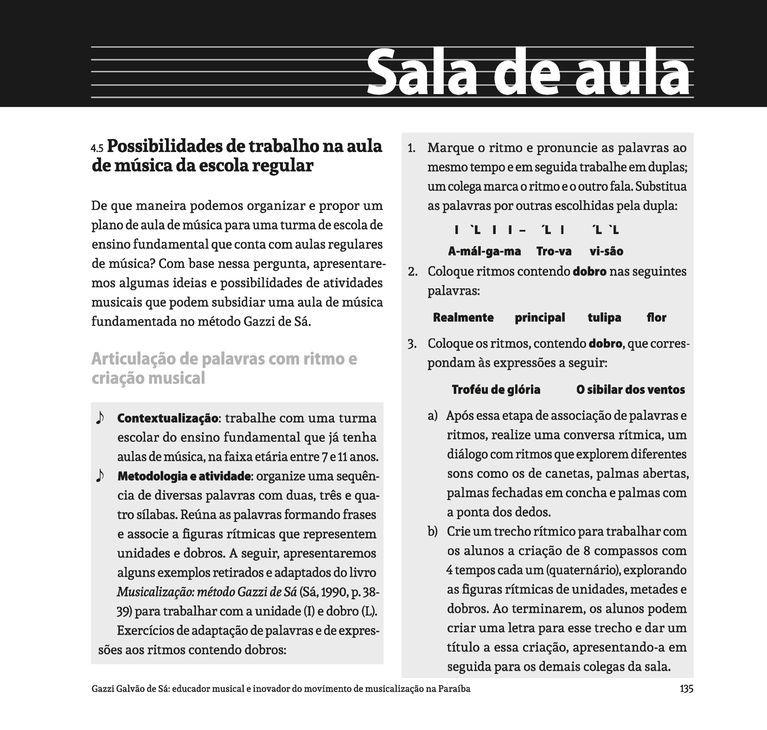 Página 135  Pressione a tecla A para ler o texto da página