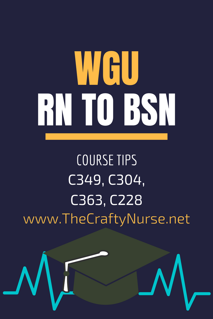 WGU RN to BSN Course Tips Part 3: C349, C304, C363, C228 – The