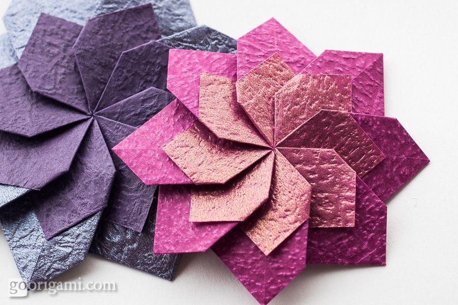 origami 2d flower