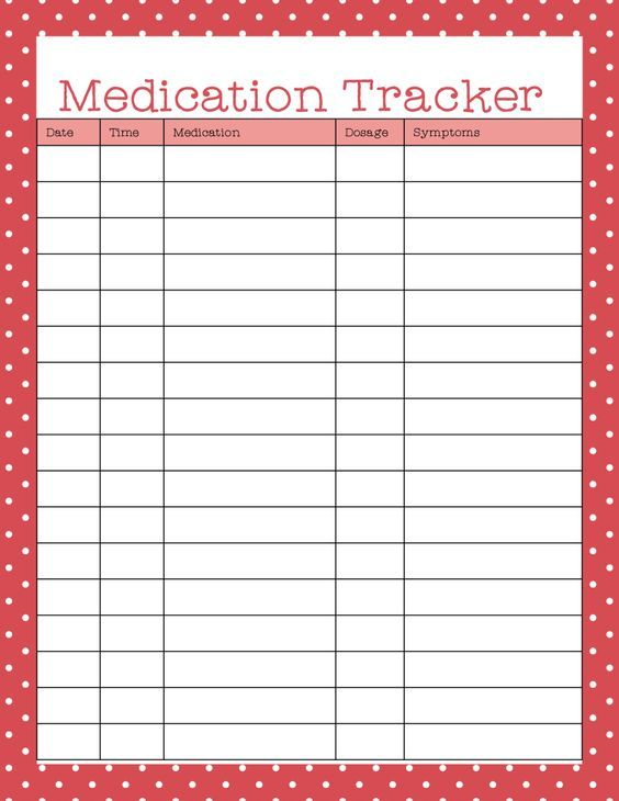 Trust image with regard to free printable medication chart