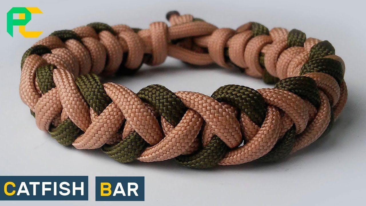 Catfish Bar Paracord Bracelet Without Buckle Youtube Paracord