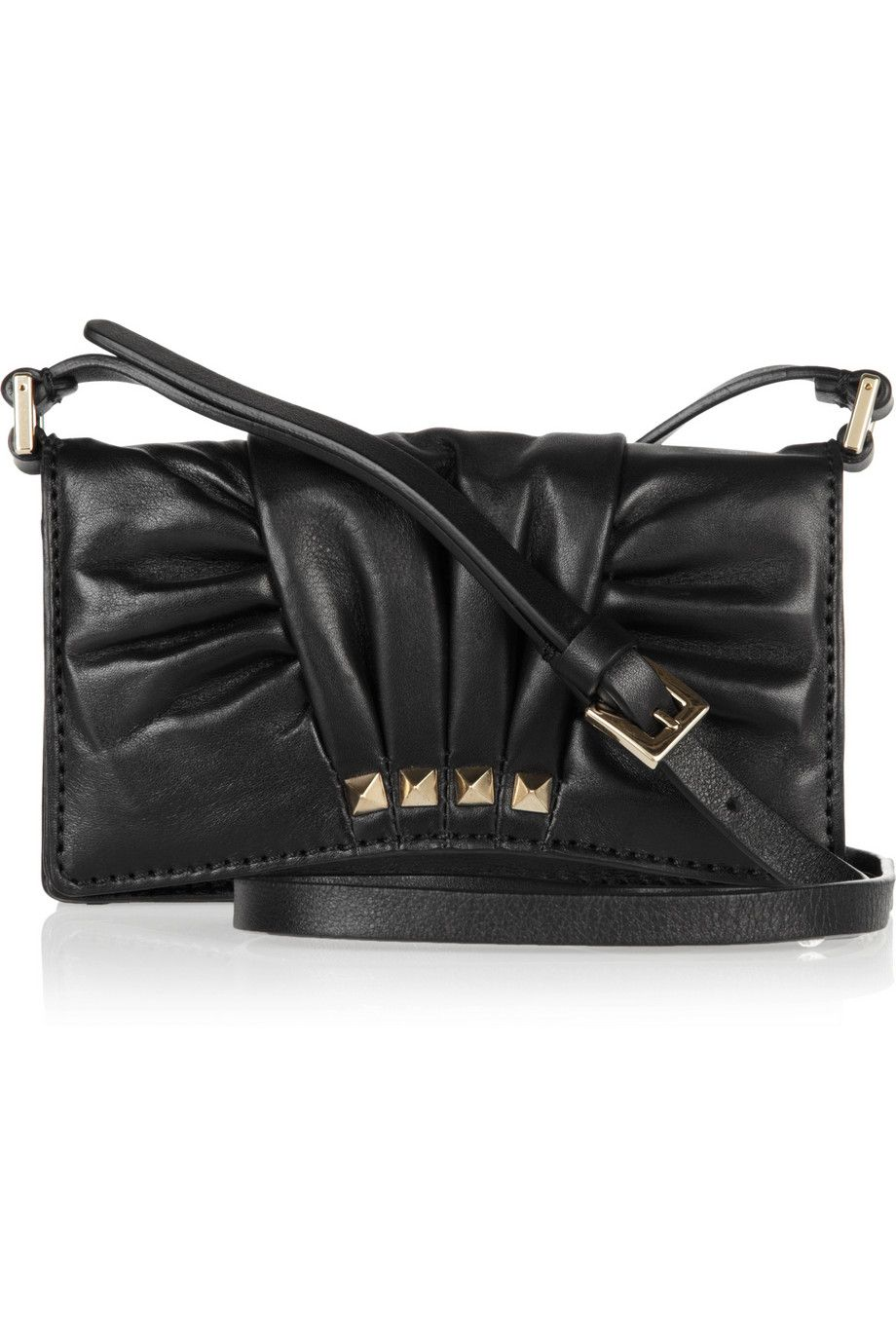 df94ca8d3f5ee Valentino Pleated leather mini shoulder bag - 45% Off Now at THE OUTNET