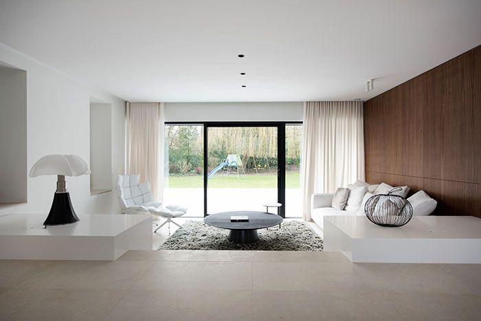 Maison moderne / Design intérieur / Contemporain / Salon / white et ...