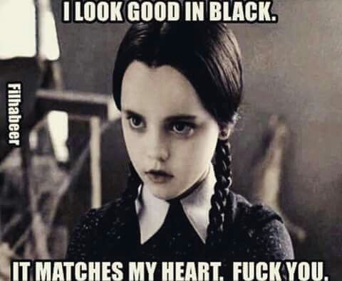 Wednesday Addams Meme Funny : Damn right! mena = ™ funny pinterest humour stuffing and random
