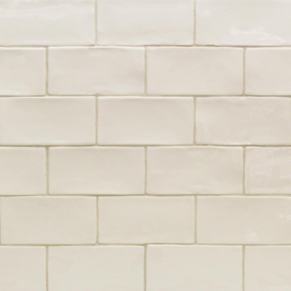Splashback Tile Catalina Vanilla 3 In X 6 In X 8 Mm Ceramic Wall