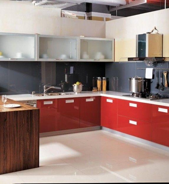 Kitchen Modern Modular Open Kitchen Design Small Space Modern Modular Open  Kitchen White Flooring Ideas Popular Kitchen Colors Scheme Ideas That Can  Improve ...