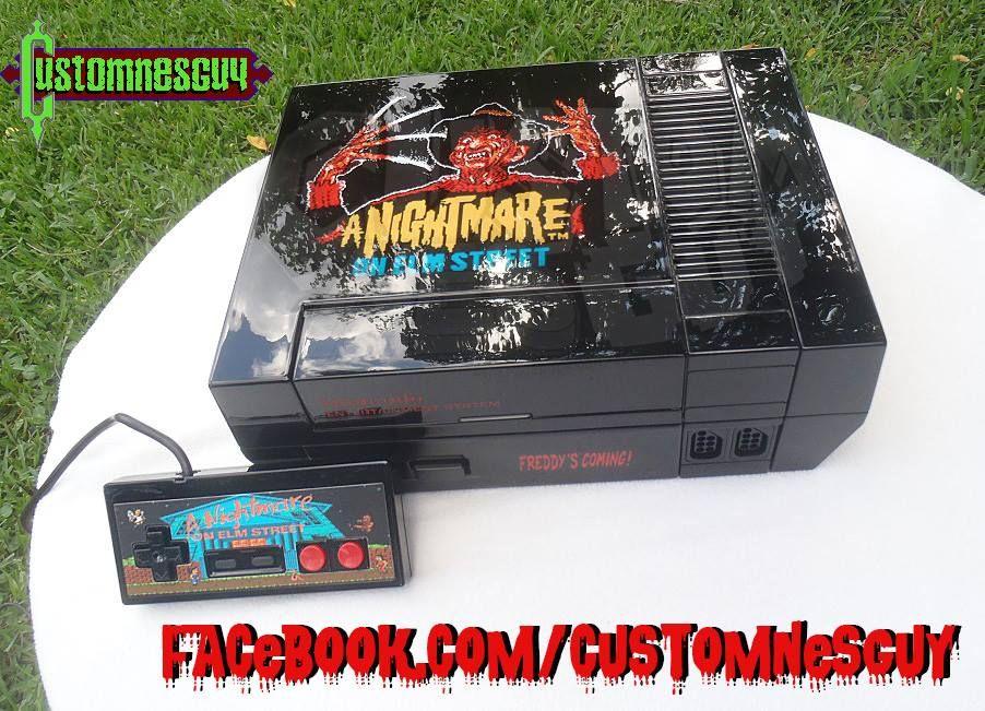 Customizer Makes Epic Nightmare On Elm Street Nintendo Console Ihorror Jason Game Nightmare On Elm Street Latest Horror Movies