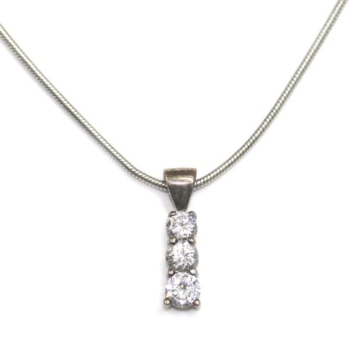 18ct white gold trilogy diamond pendant handmade by form bespoke 18ct white gold trilogy diamond pendant handmade by form bespoke jewellers leeds yorkshire www audiocablefo