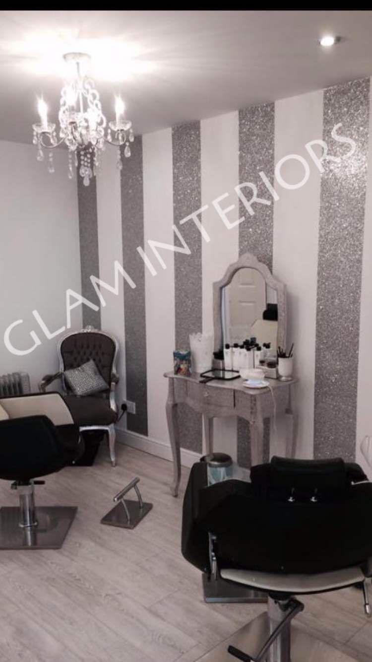 1 X Grade 3 Silver Glitter Wall Border Fabric Wallpaper Christmas Table Runner Ebay Bedroom Wall Bedroom Wall Paint Glitter Wallpaper Bedroom