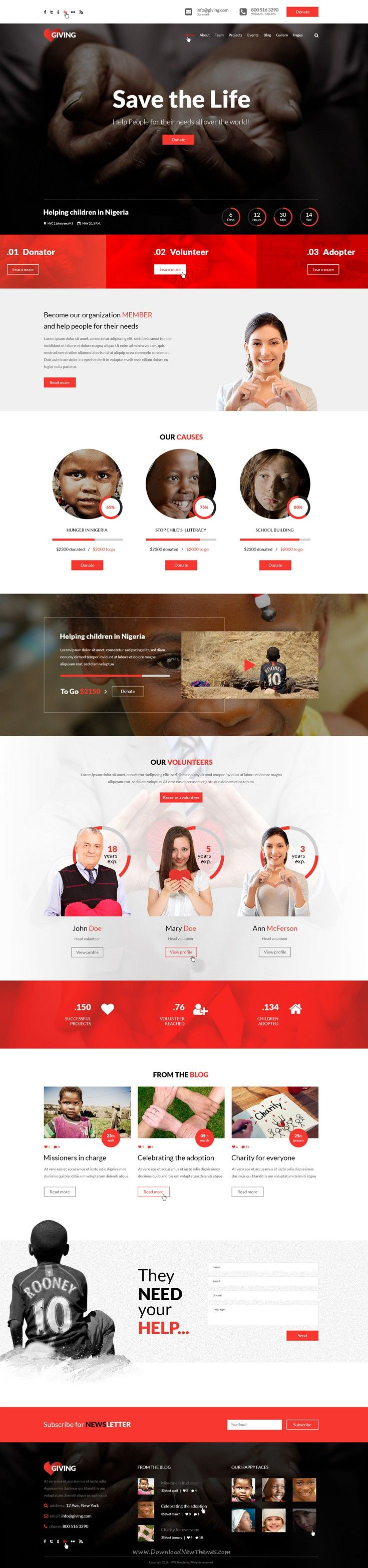 giving ngo and charity psd template pinterest psd templates