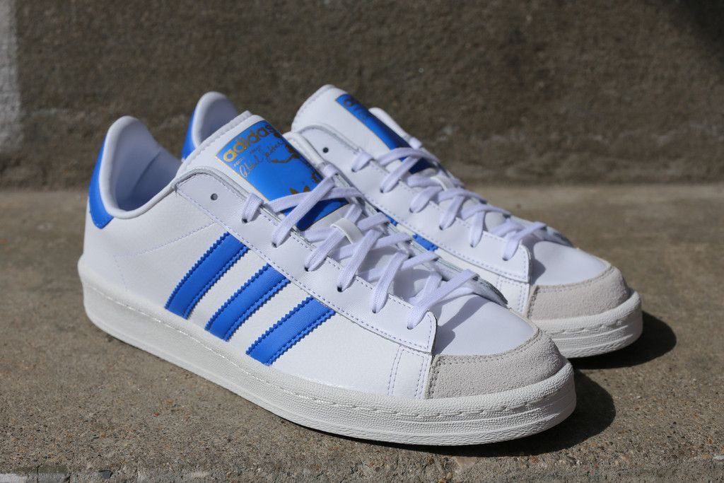 new arrival ccd53 53b74 adidas Abdul-Jabbar Lo White Blue Hitting Retailers