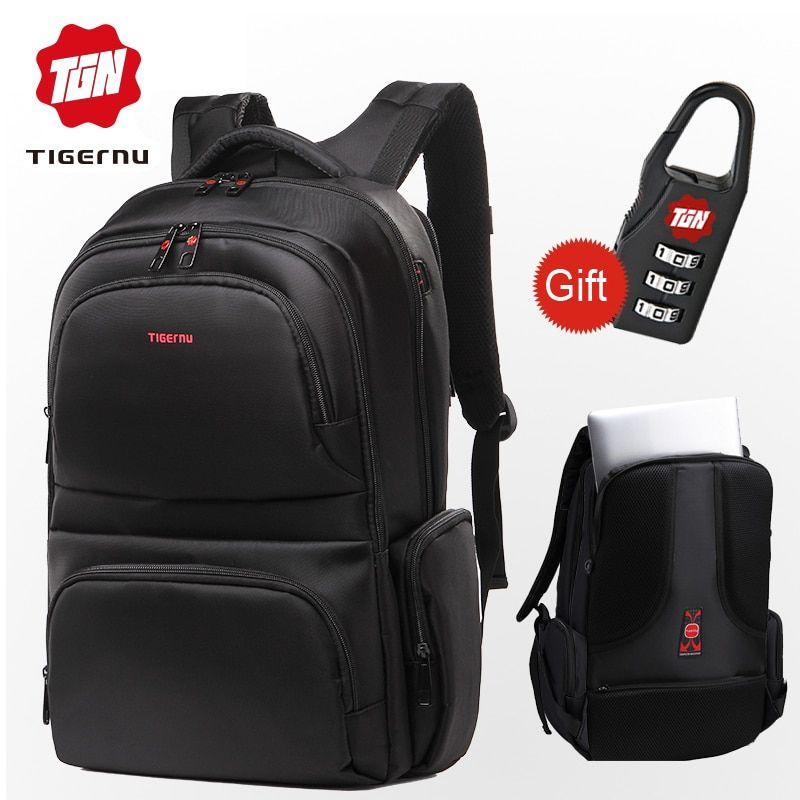 7195fe4ec65f Tigernu Anti theft 15.6 Waterproof Nylon Men s Backpacks Women Backpack  Schoolbag for 14 15 Laptop Notebook Bag Mochila Feminina Price   69.90    FREE ...