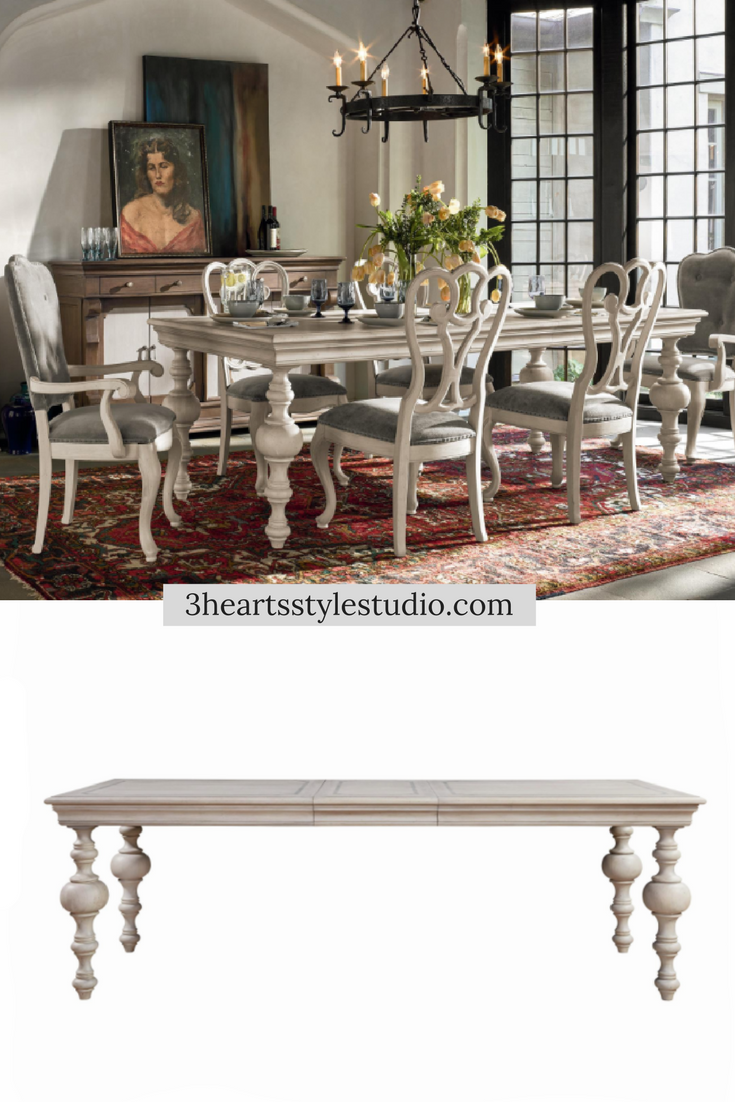 3 Hearts Style Furniture Collections Denver, Colorado  Driftwood And White Dining  Table