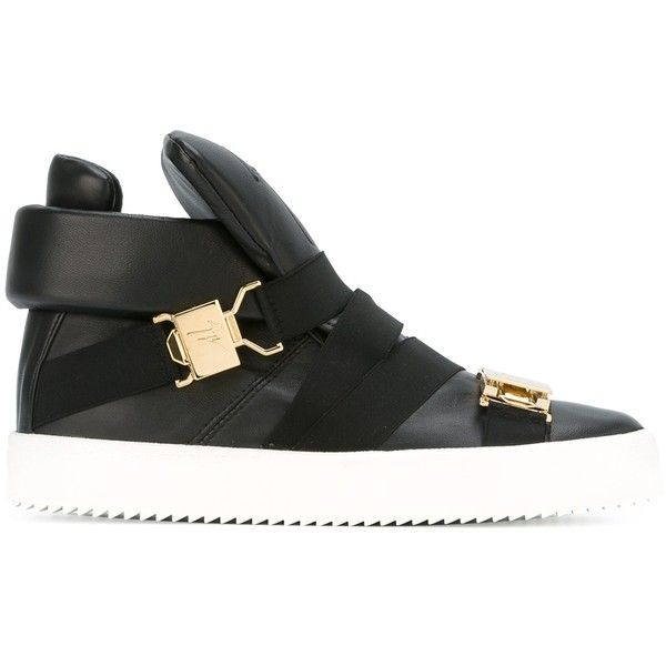 black trainers high tops