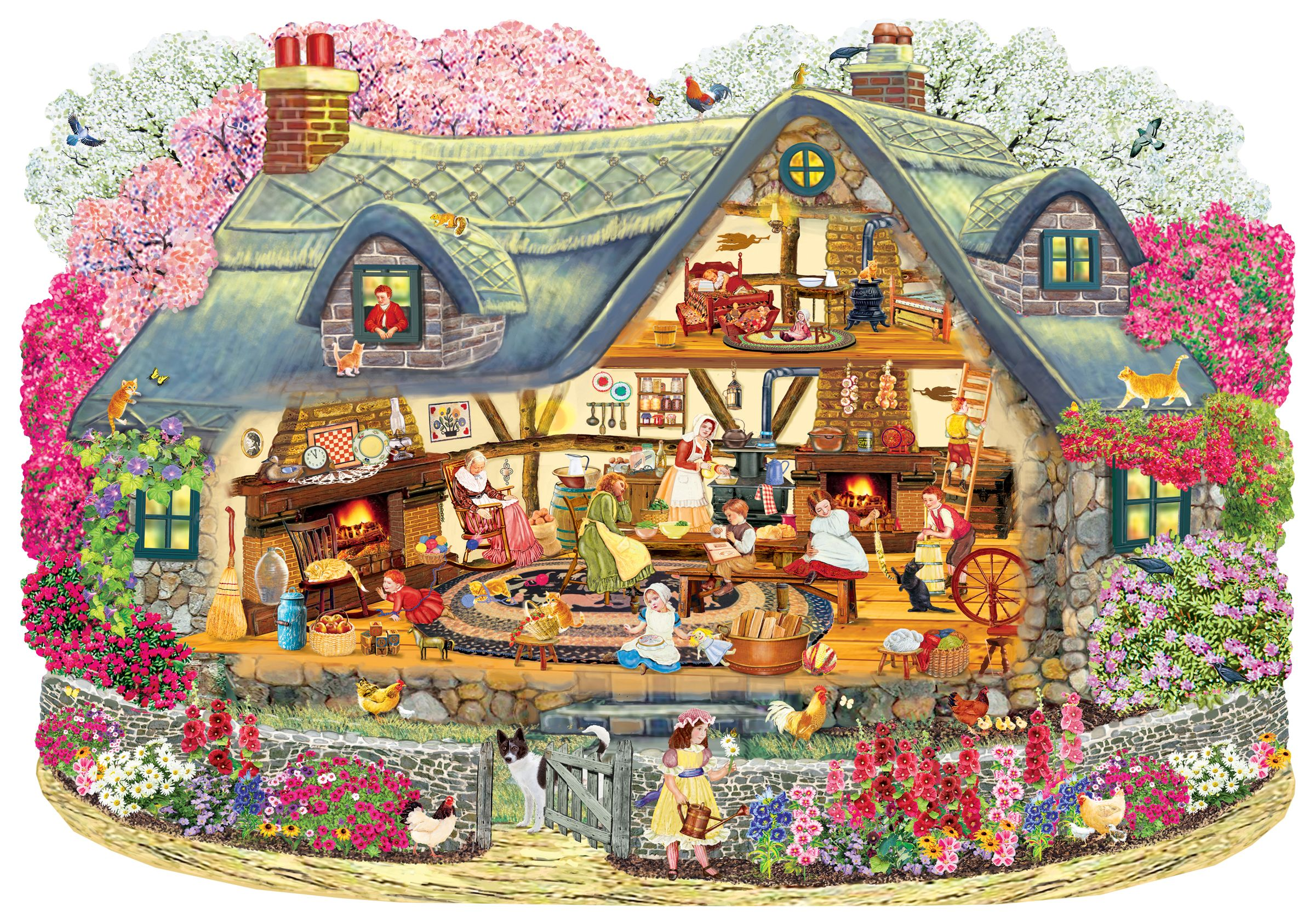 Fairy Tale Hut Jigsaw Puzzle For Adults