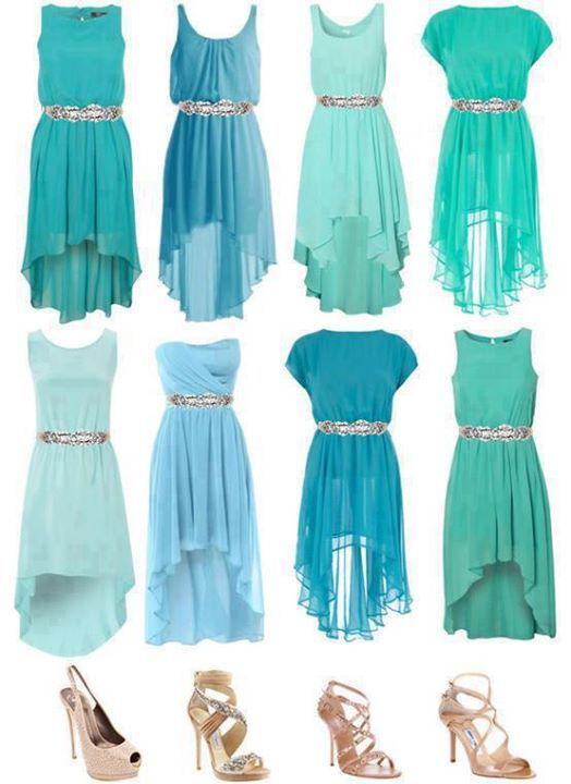 6f857da0f3 Turquoise Bridesmaid Dresses