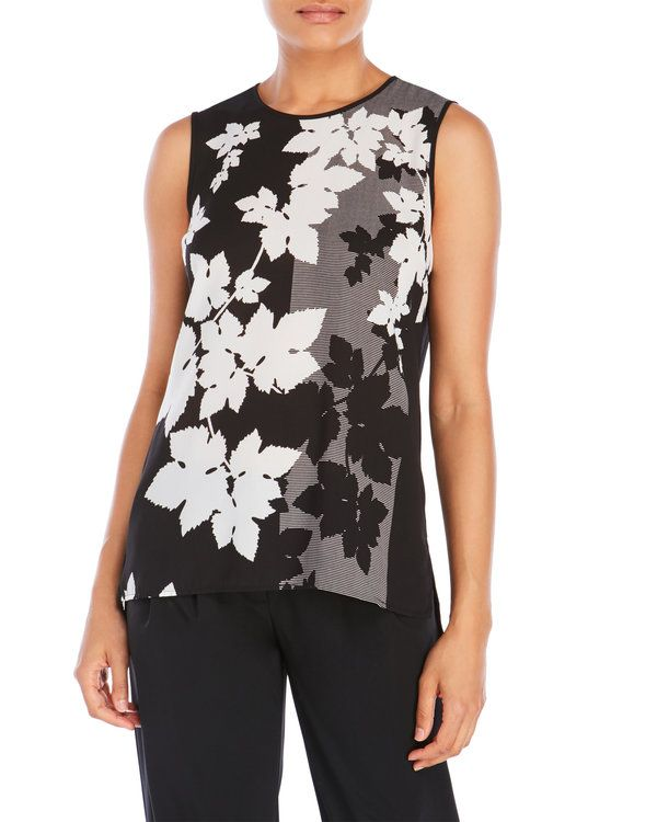 """Check out """"Floral Screen Blouse"""" from Century 21"""