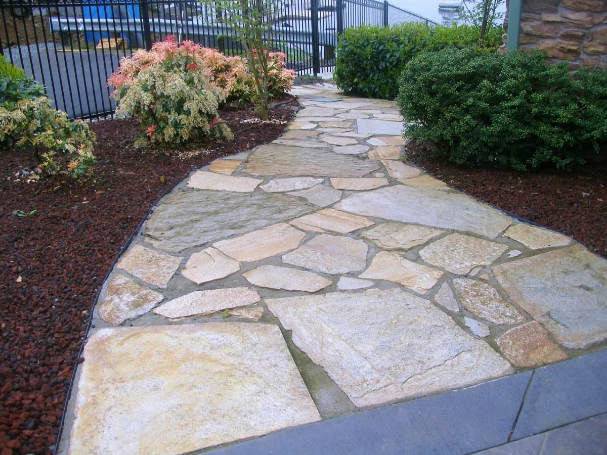 Glod rush natural stone path mortar set walkways Natural stone walkways