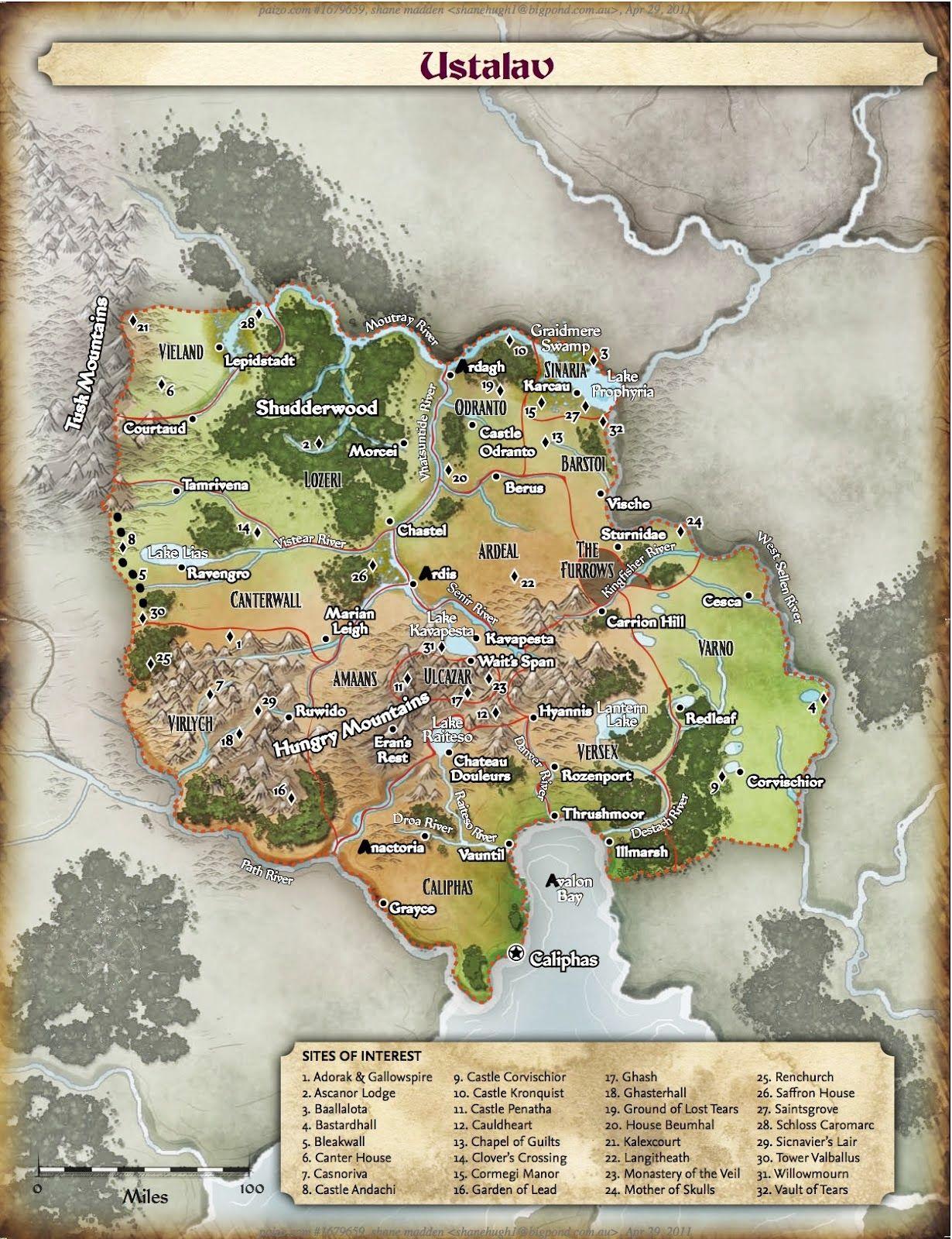 Ustalav_Map_3.jpg | RPG Maps | Pinterest | Mittelalter, Vorlagen und ...