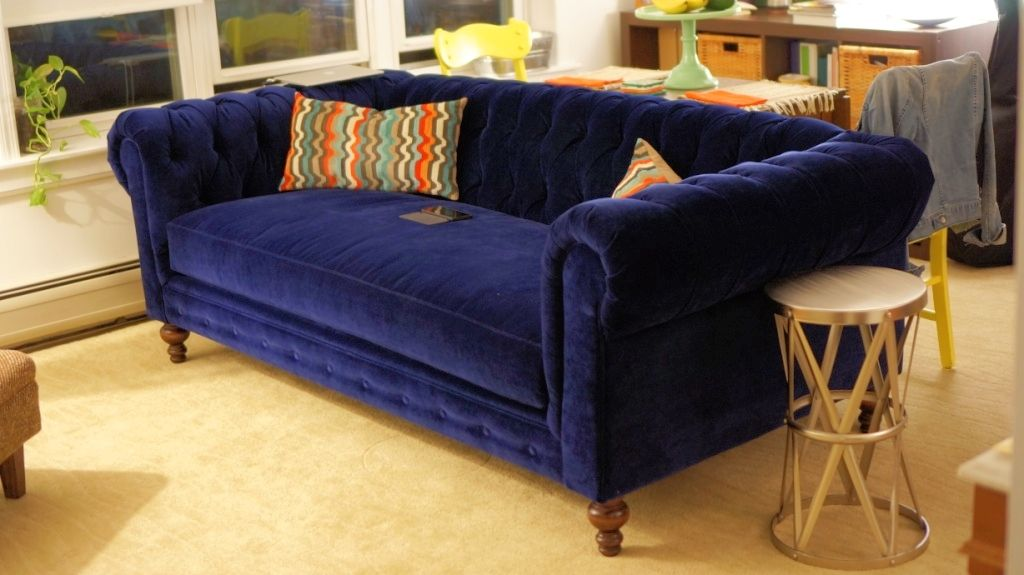 Blue Velvet Chesterfield Sofa. The Comfortable Couch Company. Cococo Home