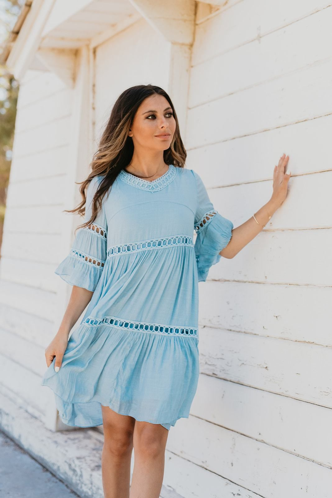 The Cabo Lace Babydoll Dress In Misty Blue Lace Babydoll Dress Blue Babydoll Dress Babydoll Dress [ 1600 x 1068 Pixel ]