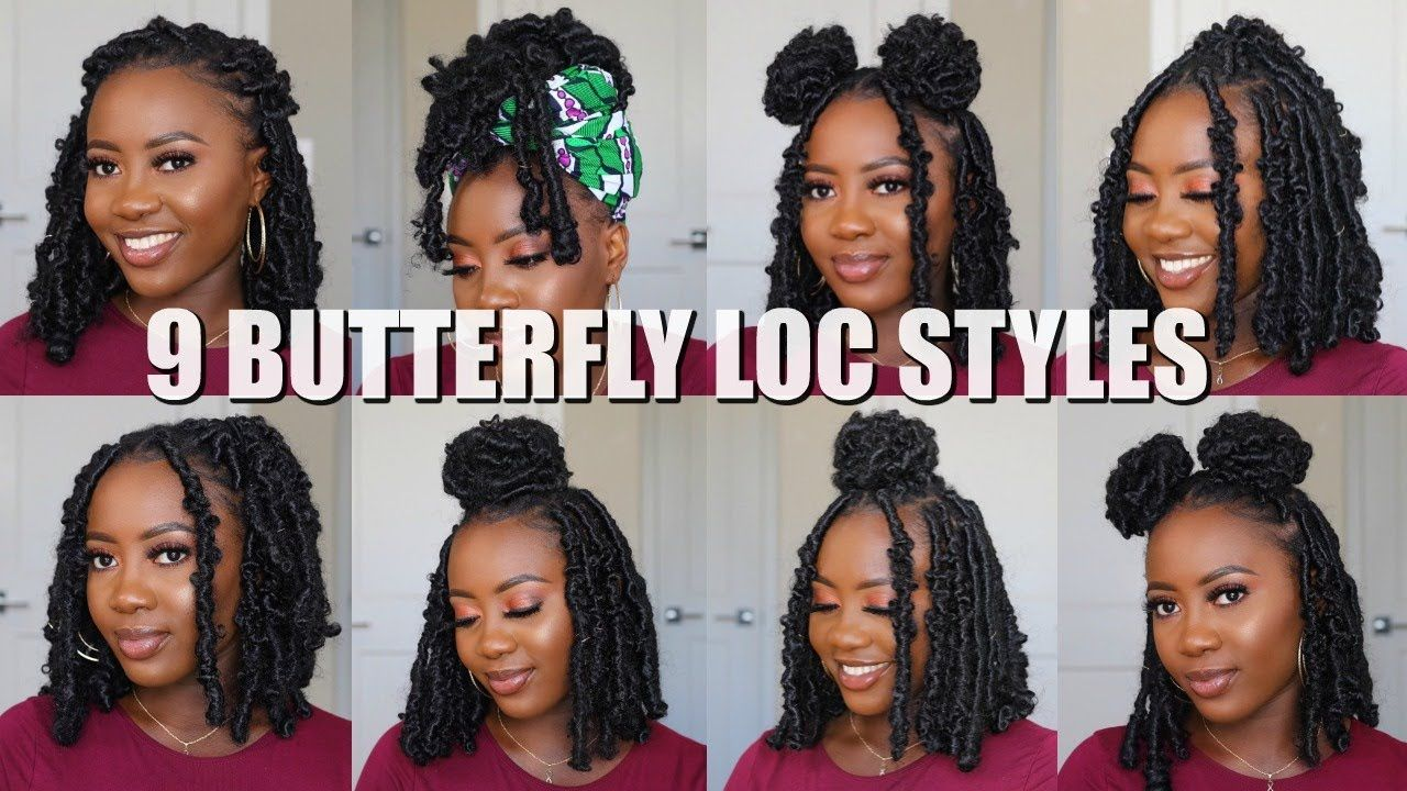9 Ways To Style BUTTERFLY LOCS BOB   Quick and Easy   Faux locs ...